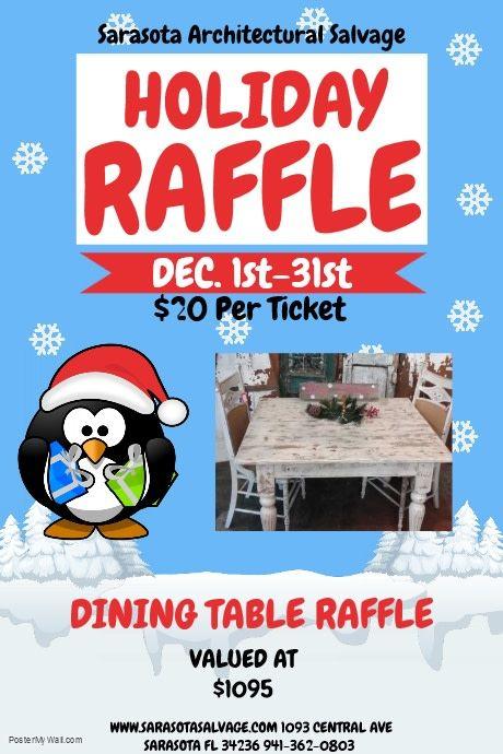 Dining Table Raffle Ticket