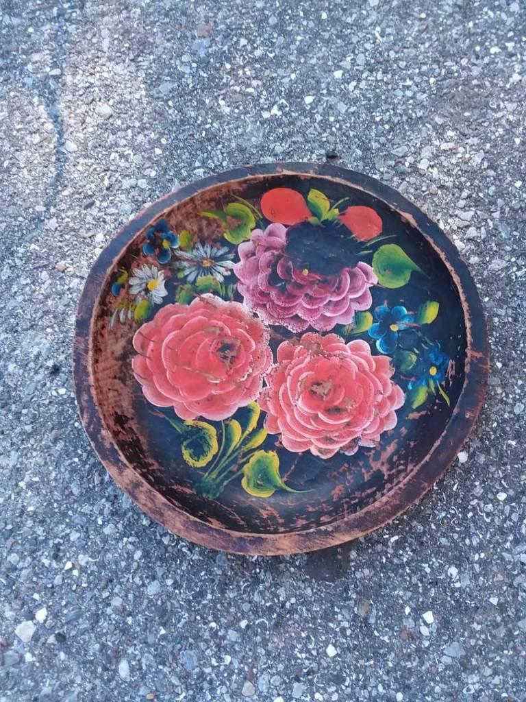Wooden Flower Bowl