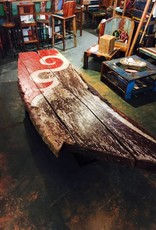Indonesian Boat Slab Coffee Table 11'x40""