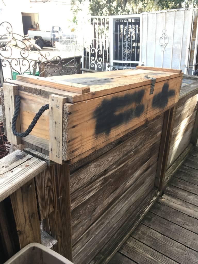 Wood Military Ammo Box