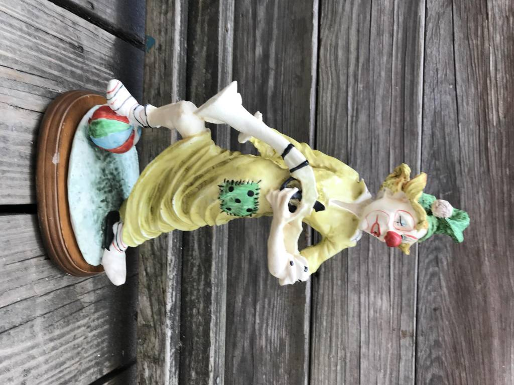 Resin Clown Figure With Musket