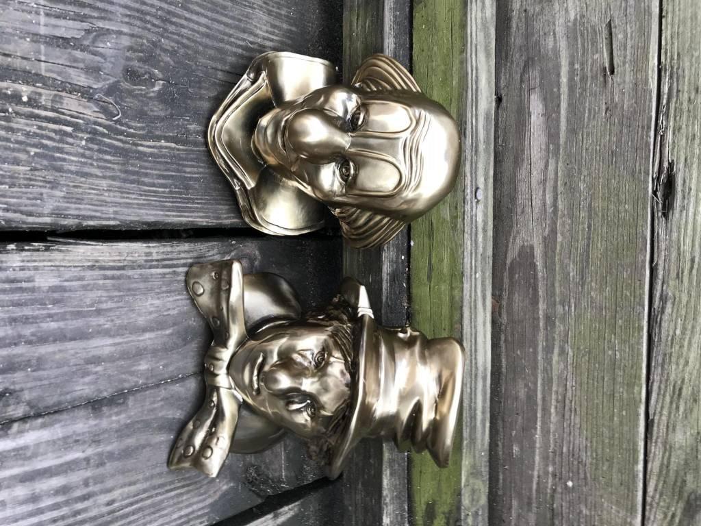 Bronze Clown BookEnd Set