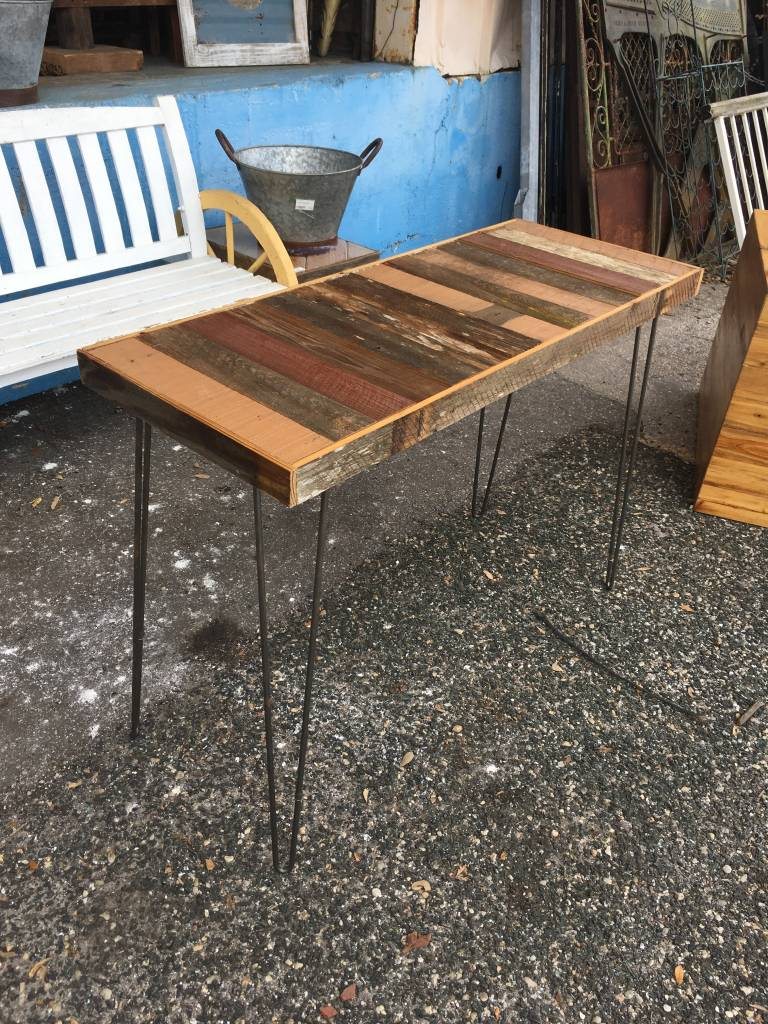 Cypress Straight Panel Table w/ Hair Pin Legs 17x43x31
