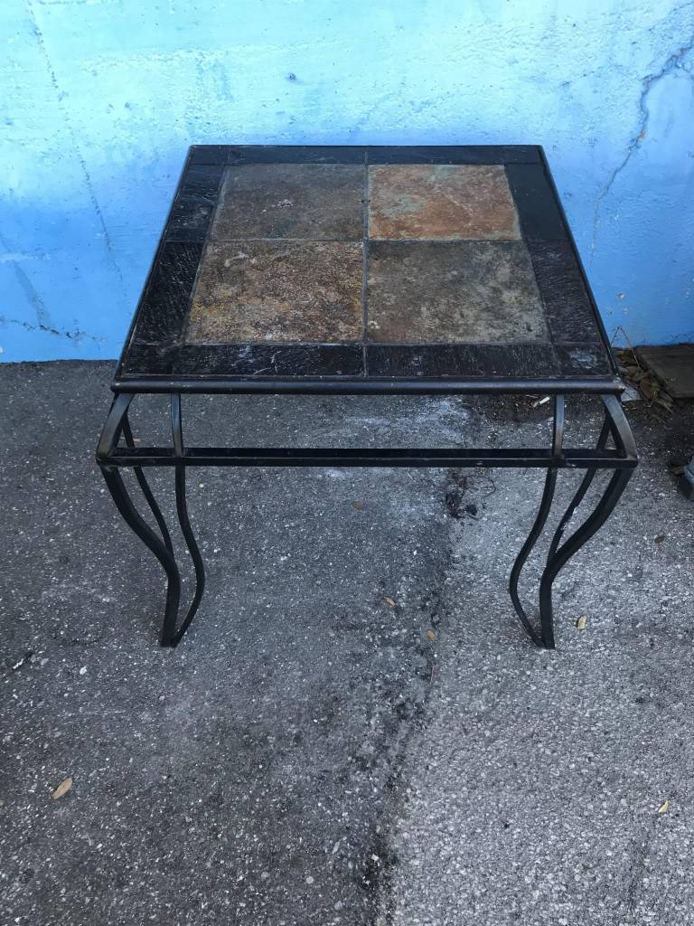 Wrought Iron Side Table Sarasota Architectural Salvage 1093 Central Ave Fl 34236