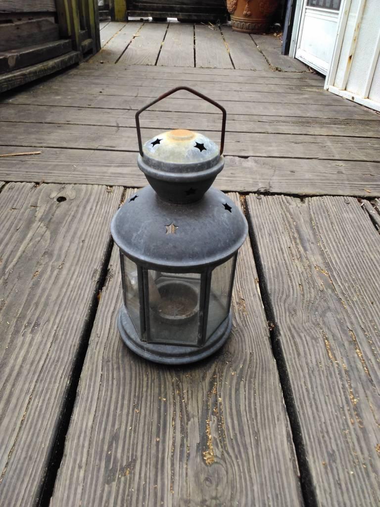 Candle Lantern W/ Stars