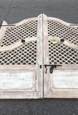 Lattice Style Indian Gates White