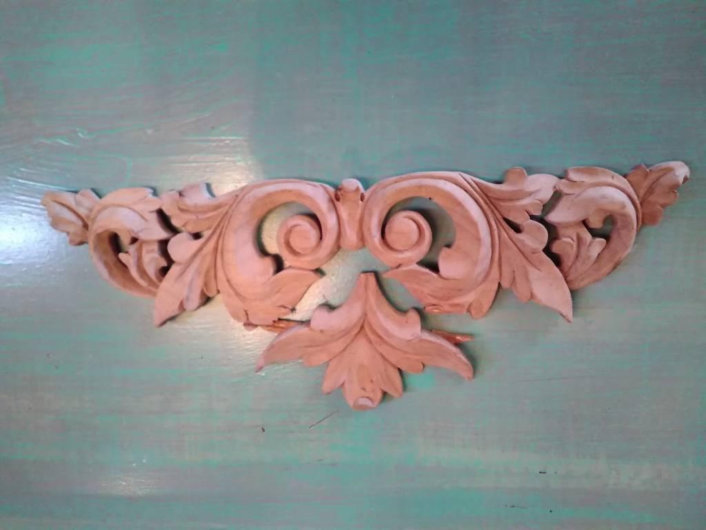 Carved Wooden Medalion
