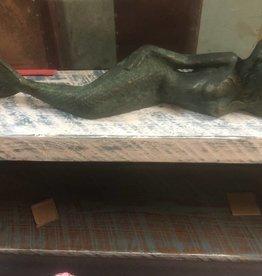 Large Lying  Mermaid Vintage Green