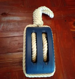 Wood Pulley Blue 16""