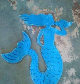 "Wood Wall Mermaid 23"""