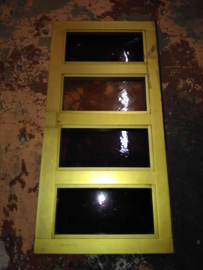 Md. Gold Anodize Aluminum Transom