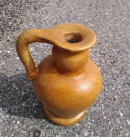 Sm Terracotta Yellow Vase w. Handle