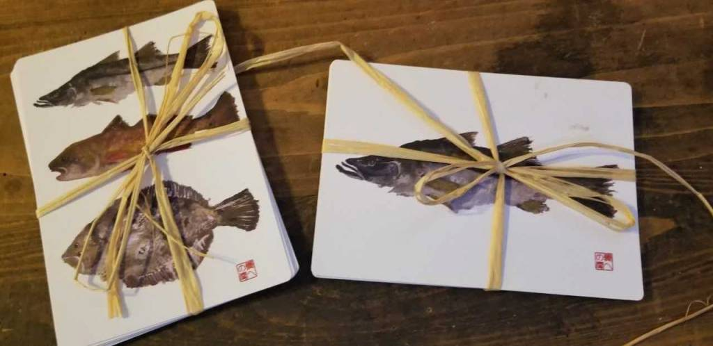 Gyotaku Print Post Cards