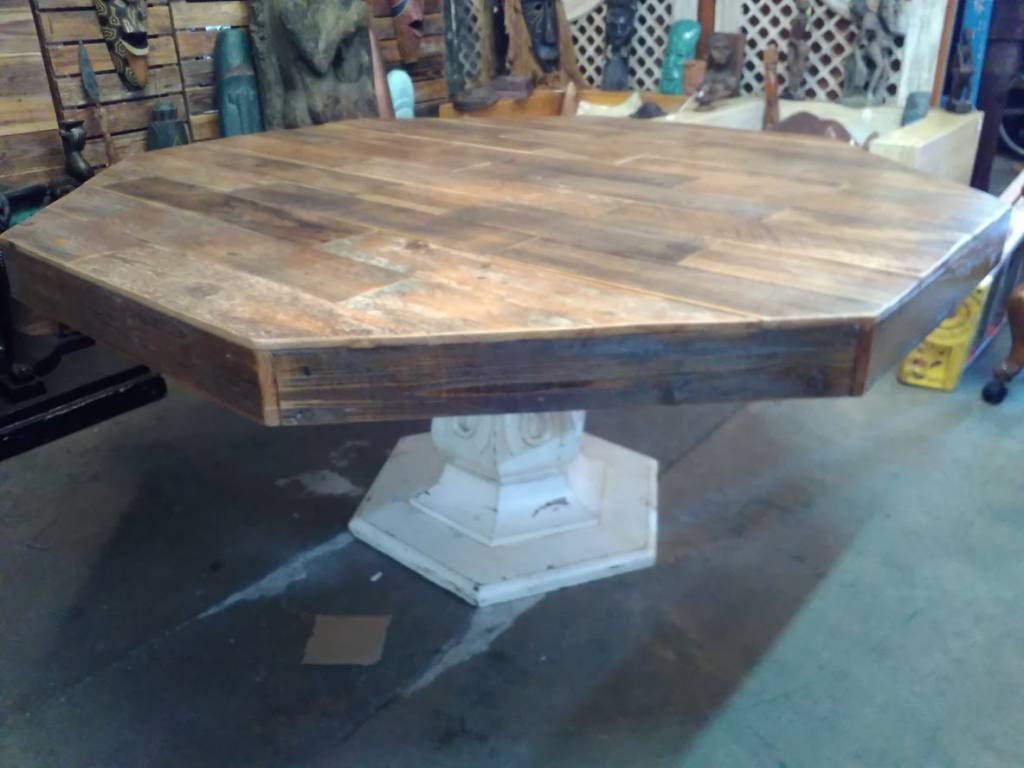 Reclaimed Cypress Octagon Dinning Table