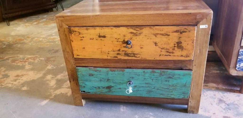 (2) Drawer Teak End Table