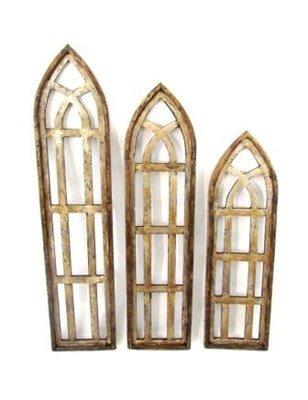 """Md Forli Wood Window 48""""H x 12""""L x 1""""W"""