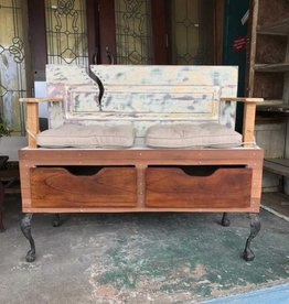 Reclaimed Double Seat Bench