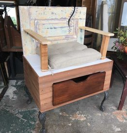 Reclaimed Single Seat Bench