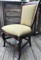 Wooden Yellow cushion chair