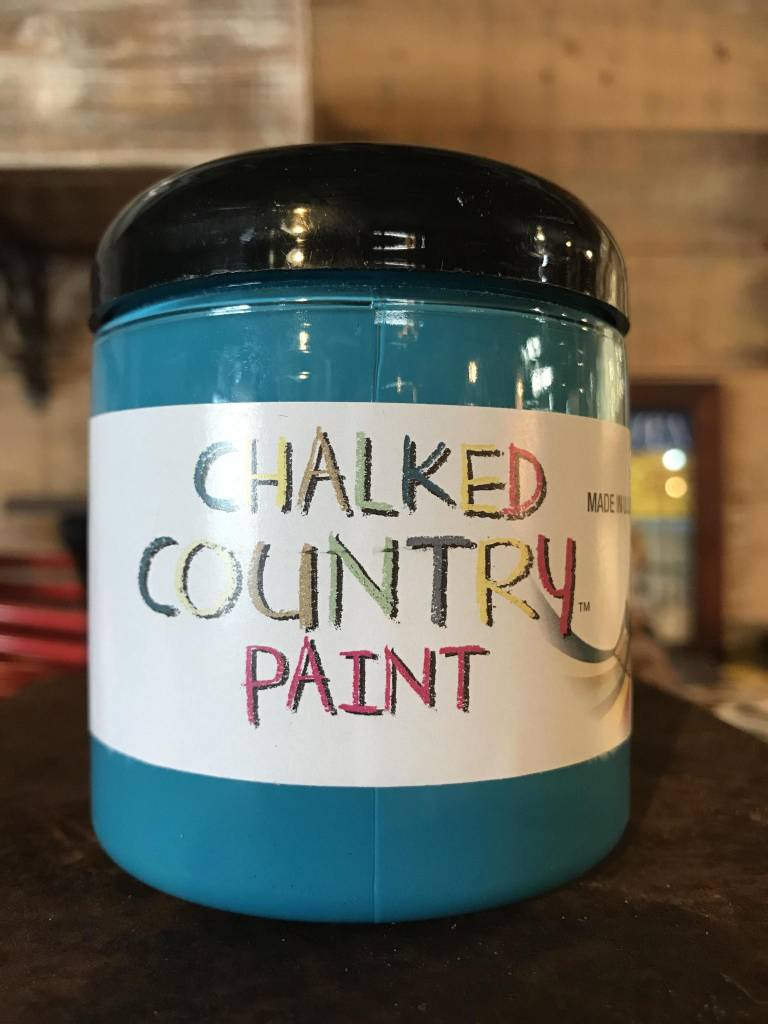 Chalked Country 8oz Teal Ocean