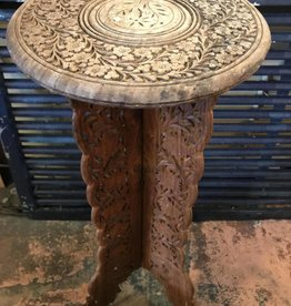 Side Table carved wood