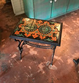 Title Top Iron Side Table