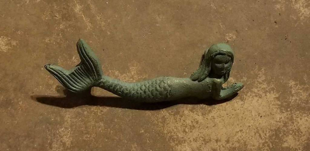 Antique Bronze Mermaid Drawer Pull