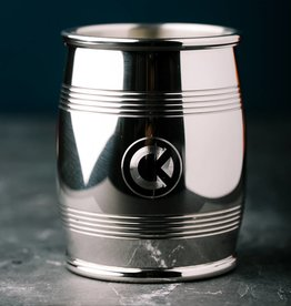 "ASA Lexington Silver 4"" Slim Pewter Barrel Beaker"