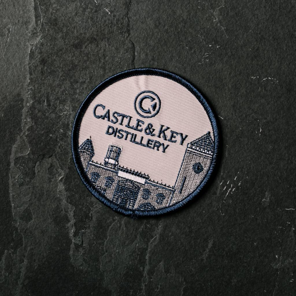 """Embroidered 3"""" Castle Patch"""