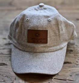 Flannel Leather Patch Hat