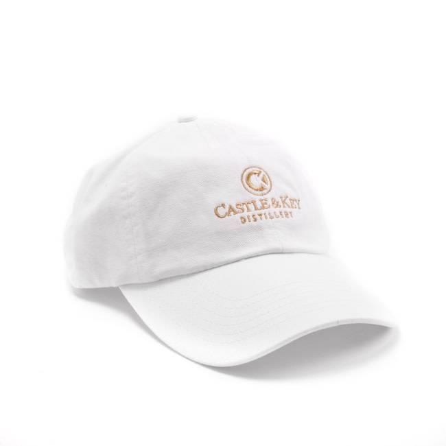 Castle & Key Cotton Logo Hat White