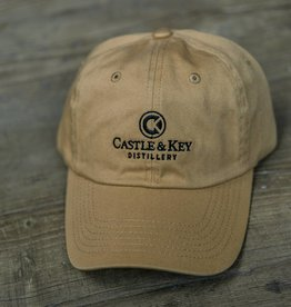 Castle & Key Cotton Logo Hat Vegas Gold