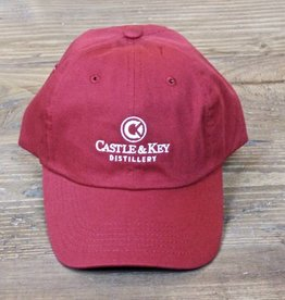Castle & Key Cotton Logo Hat Cardinal