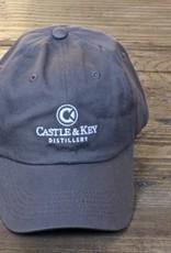 Castle & Key Cotton Logo Hat Charcoal