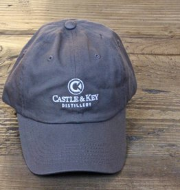 Castle & Key Cotton Logo Hat Charcoal