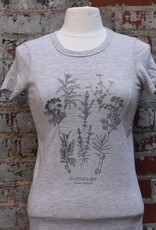 Alternative Apparel Botanical Print Tee Shirt Oatmeal