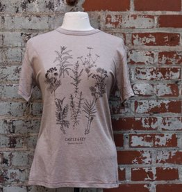 Alternative Apparel Botanical Art Tee Vintage Stone