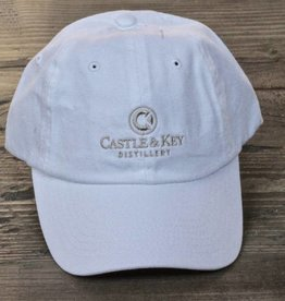 Castle & Key Cotton Logo Hat White