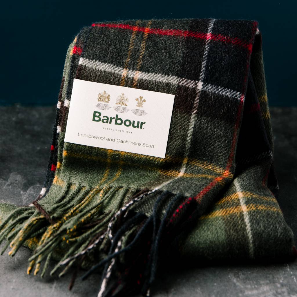 Barbour Barbour Merino Cashmere Scarf Classic Tartan-green