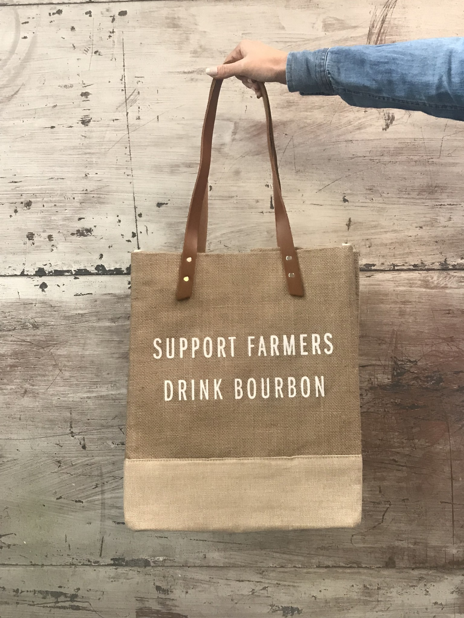 Apolis Support Farmers Wine Tote