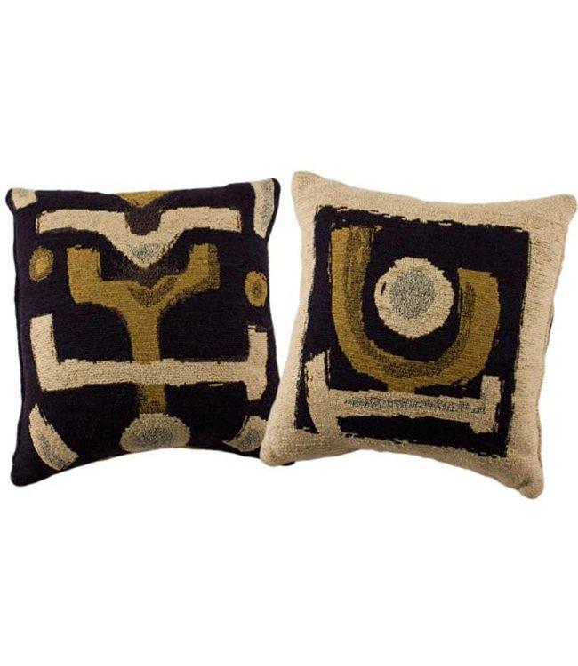 Huitru Cushion Case Africana Natural Blue