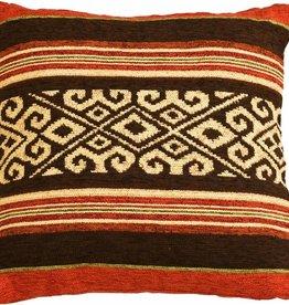 Huitru Cushion Case Mapuche Chocolate