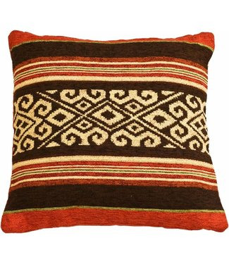 Huitru Cushion Case Mapuche Chocolate