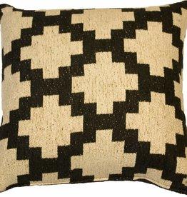Huitru Cushion Case Sarape Ebony