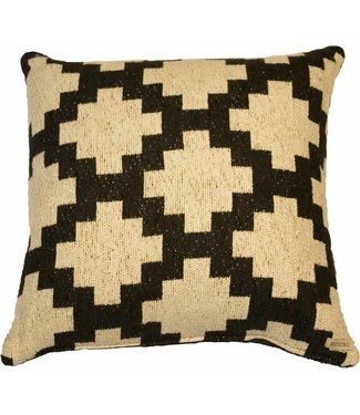 Huitru Cushion Case Sarape Ebony