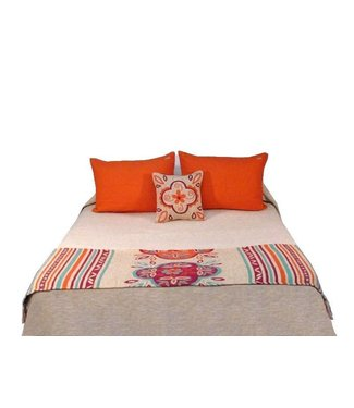 Huitru Bed Runner Emilia Ricotta Twin