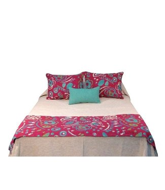 Huitru Bed Runner Painting Oleo Natural Plum Twin