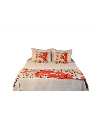 Huitru Bed Runner Poema Ricotta Twin