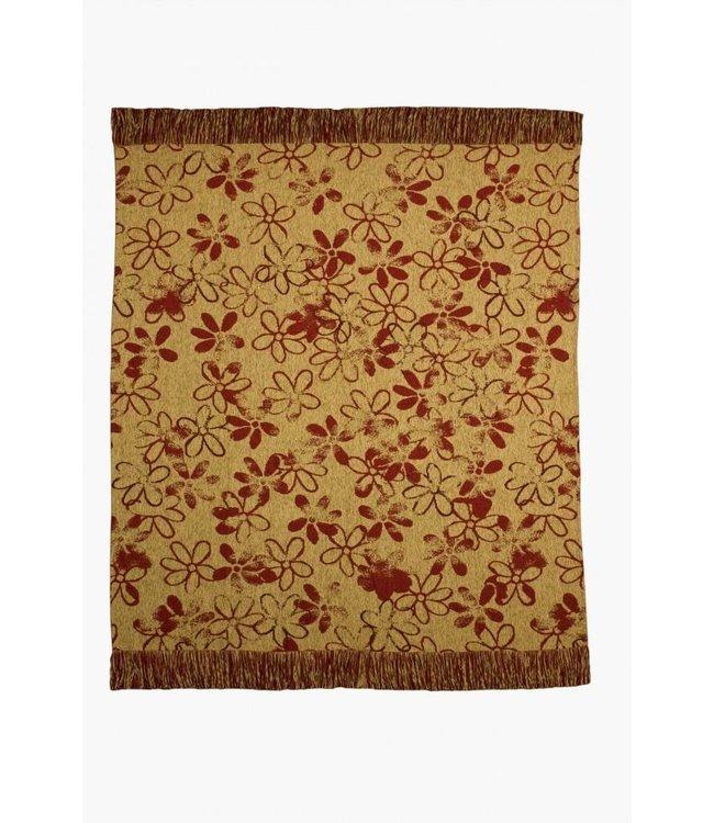 Huitru Throw Blanket Aluen Carmine