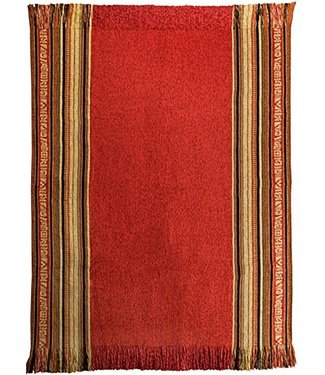 Huitru Throw Blanket Aguayo Red